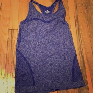 Cute purple workout tank barley worn